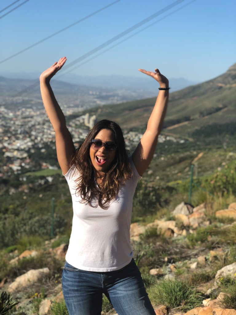 Hiked up a small part of Table Top Mountain in Cape Town, South Africa during the study abroad program.